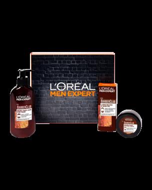 3-in-1 Wash, Styling Cream, Beard Oil Set