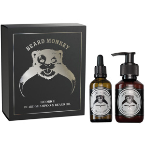 Licorice Set, Beard Shampoo 100ml + Oil 50ml