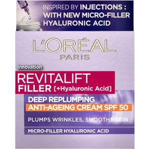 Filler [+Hyaluronic Acid] Repluming Day Cream SPF50, 50ml